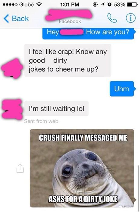 dating awkward seal crushes texting - 8328385792