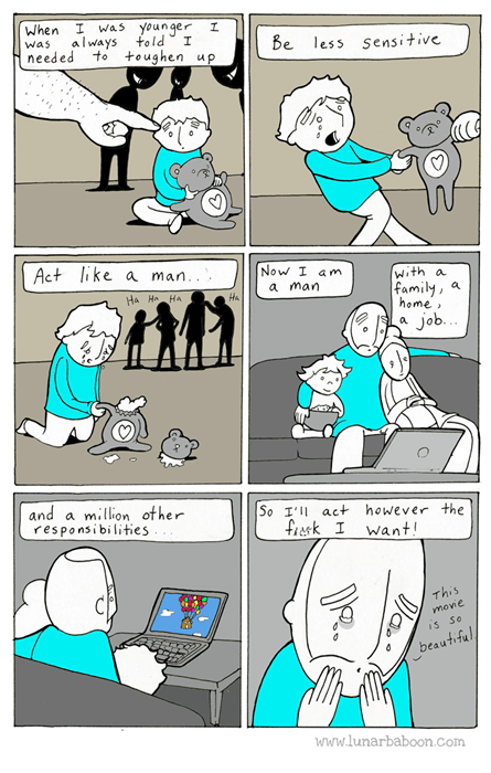 man sad but true sensitive web comics - 8328389376
