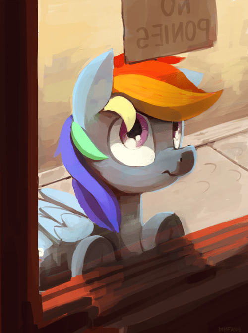 Fan Art no ponies rainbow dash - 8328433152