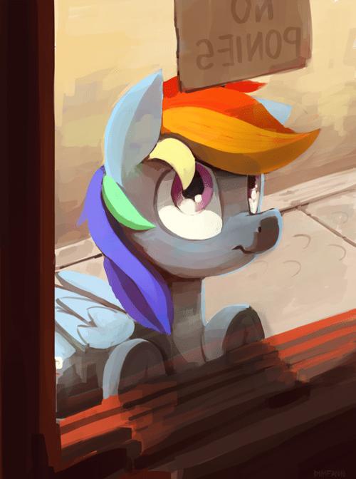 Fan Art no ponies rainbow dash - 8328433152