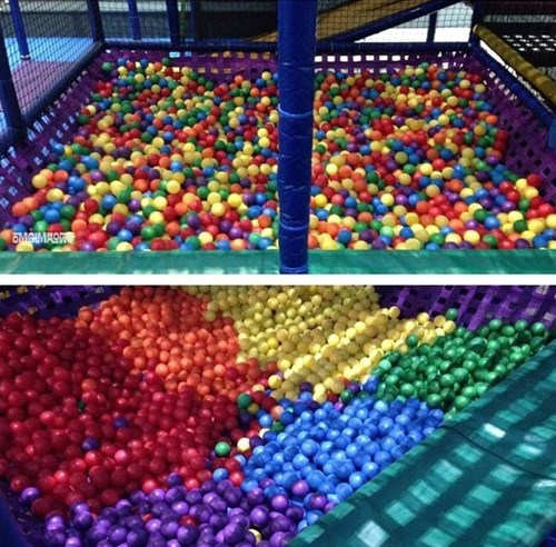 ball pit,pretty colors,organized,childhood enhanced
