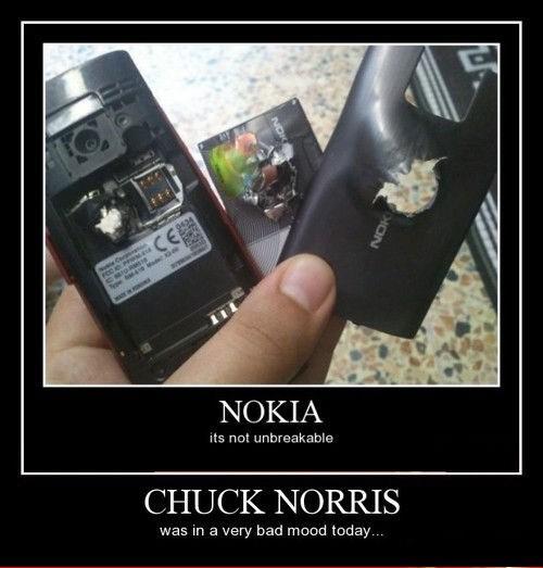 nokia,guns,chuck norris,funny