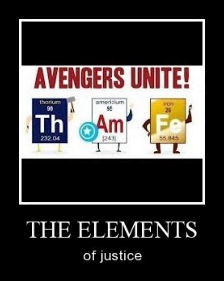 Thor,justice,iron man,Chemistry,funny,avengers