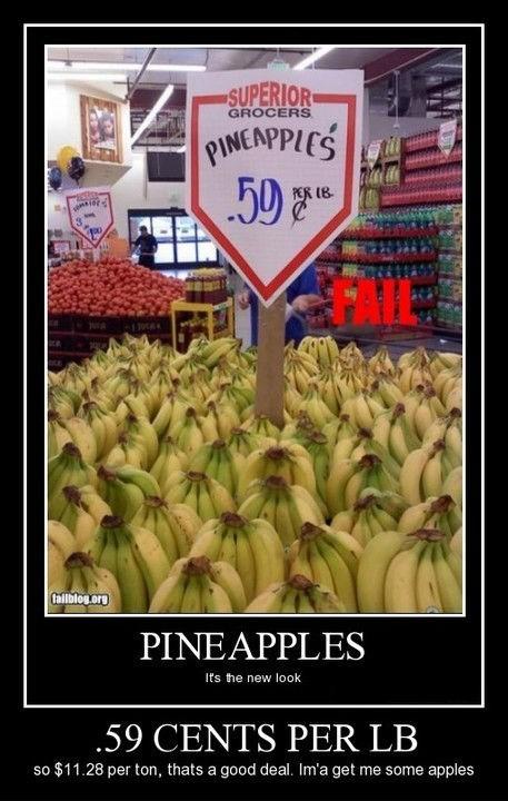 sign bananas wrong - 8329088000