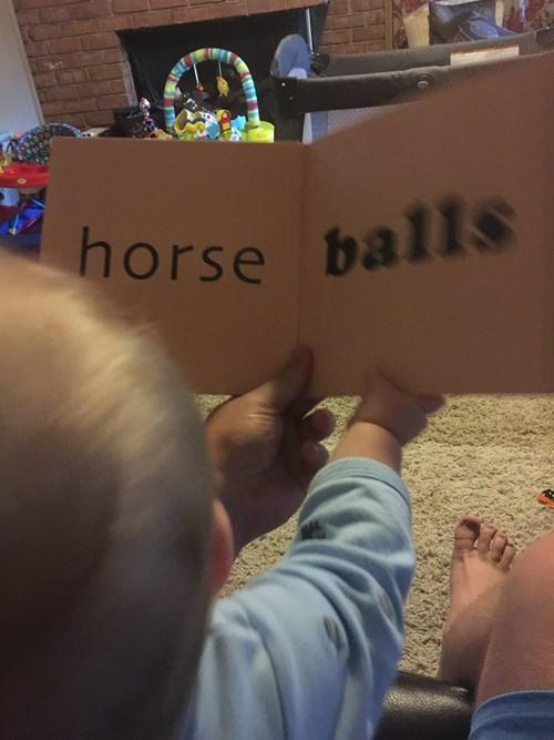 balls,kids,parenting,facebook,horse