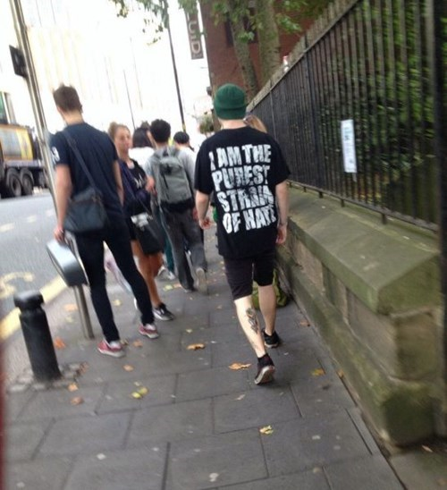 hate,t shirts,poorly dressed