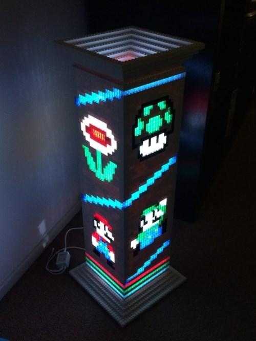 lamp mario lego nerdgasm video games - 8329479680
