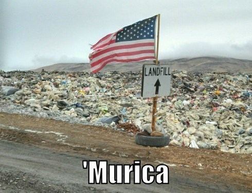 dump,landfill,old glory