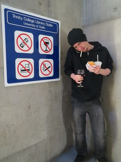 college rules no smoking