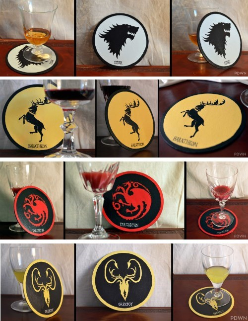 crafts,coasters,Game of Thrones