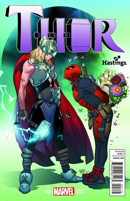 deadpool ladies Thor Straight off the Page - 8330231296