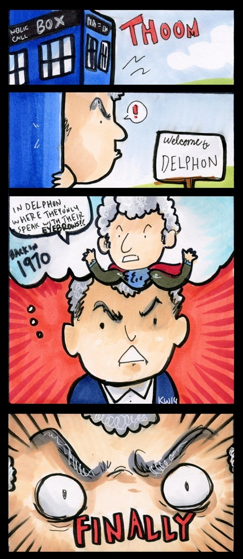 12th Doctor web comics classic who attack eyebrows