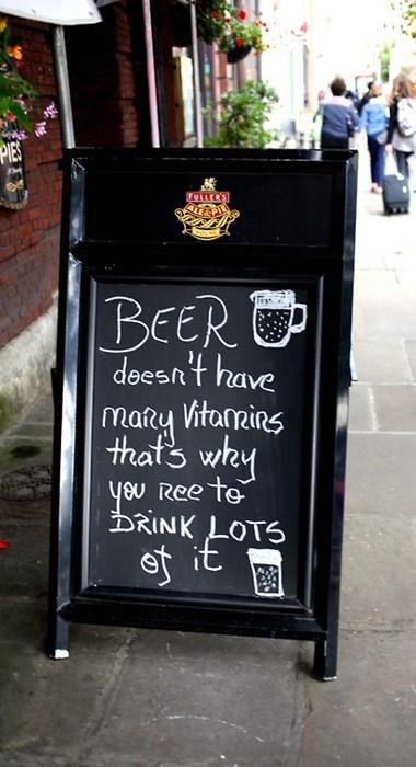 beer funny sign vitamins pub - 8330330112