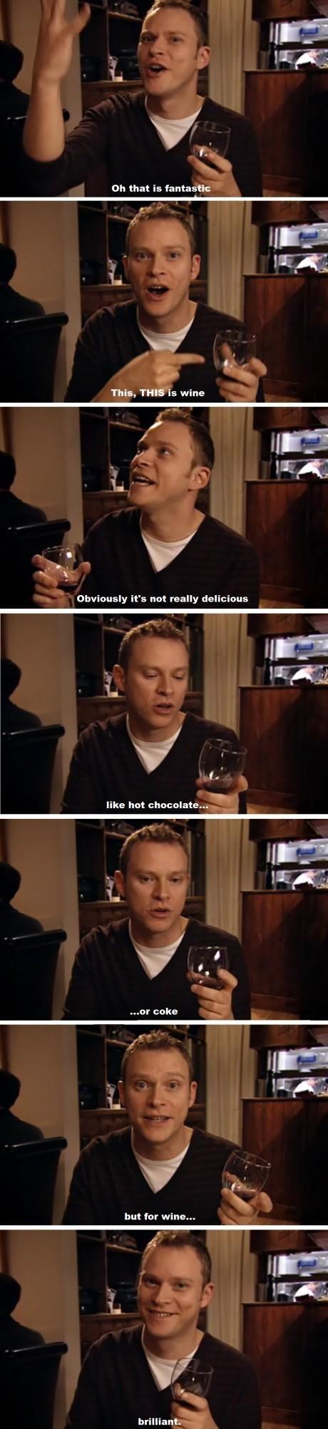 delicious peep show TV wine