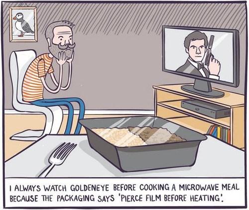 microwave,goldeneye,puns,web comics