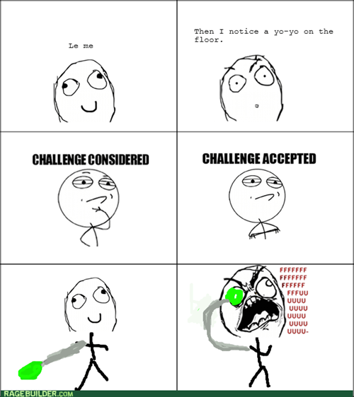 Challenge Accepted yo yo rage - 8330552320