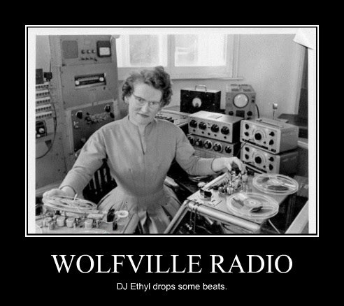 WOLFVILLE RADIO DJ Ethyl drops some beats.