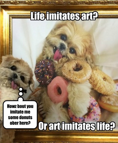 art dogs donuts life - 8331851008