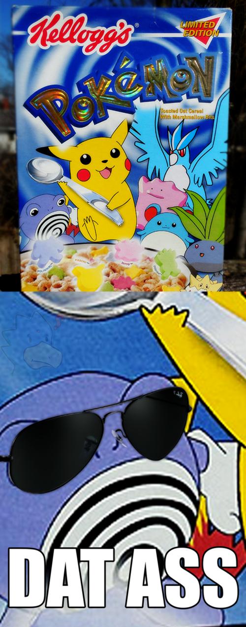 cereal dat ass poliwhirl pikachu - 8331863296