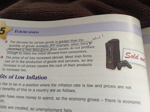 Economics,video games,textbooks