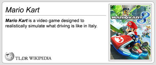 video games Mario Kart mario kart 8 tl;dr wikipedia