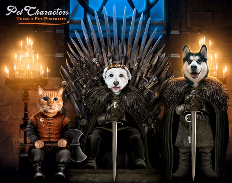 star wars pets Game of Thrones portraits - 8332037