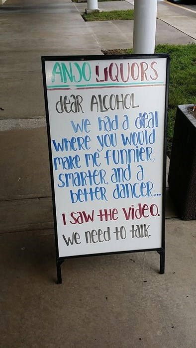 alcohol liar funny sign - 8332312064