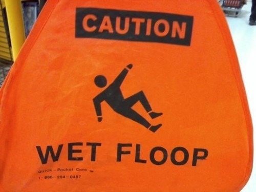 wet floor wet floop