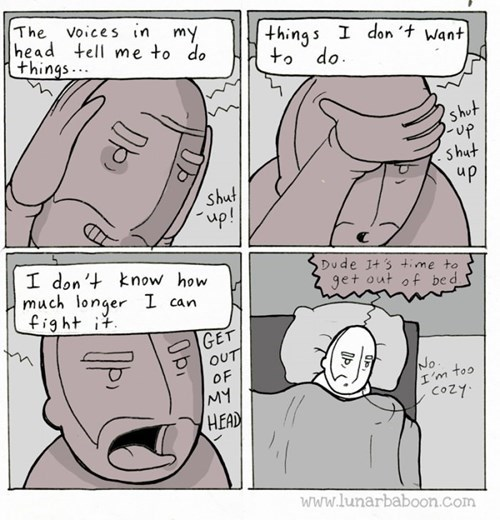 sick truth,bed,voices,web comics