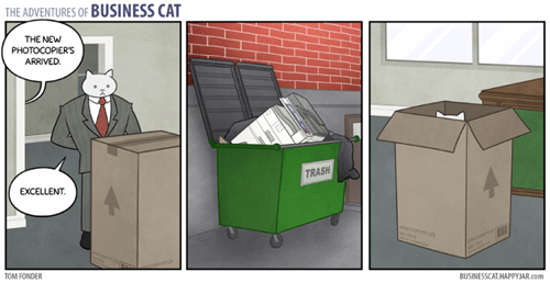 Business Cat,boxes,business,web comics