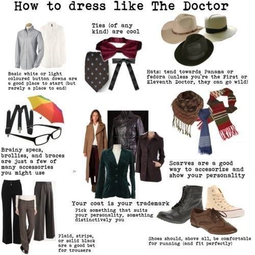 doctor who infographic dress code the doctor - 8332747520
