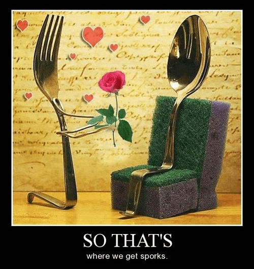 spoon fork spork love forbidden funny - 8332775168