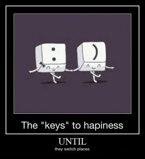 keys,smiley face,depressing,funny,happiness