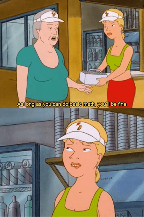 cartoons King of the hill math - 8332872960