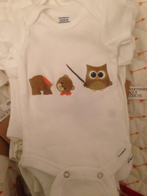 bear Owl onesie poorly dressed - 8332898304