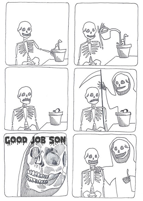Death,plants,skeletons,web comics
