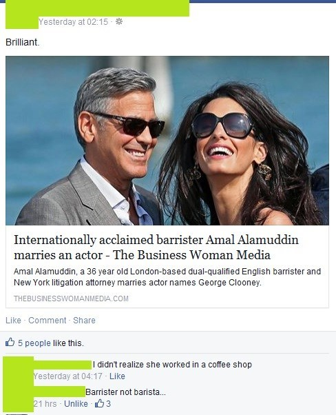 Clooney is All About That Pumpkin Spice - Failbook - Failing On Facebook