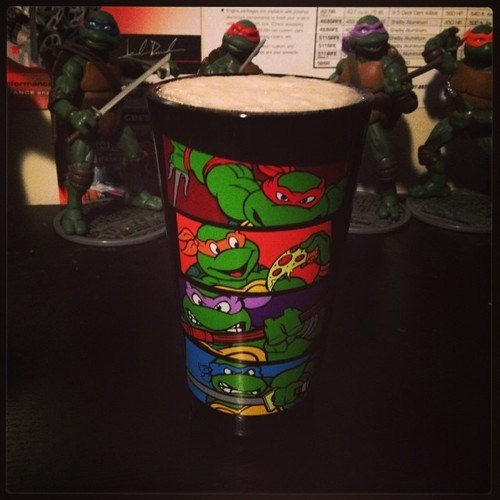 beer funny pint glass TMNT