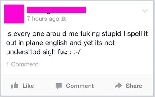 drama facepalm irony spelling