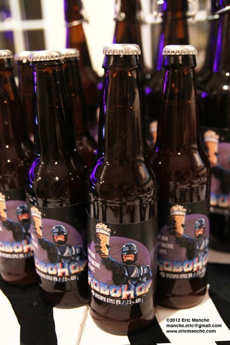 beer label funny robocop homebrew after 12 g rated - 8333315840