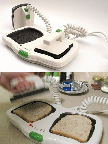 bread,funny,invention,toast,difibrillator