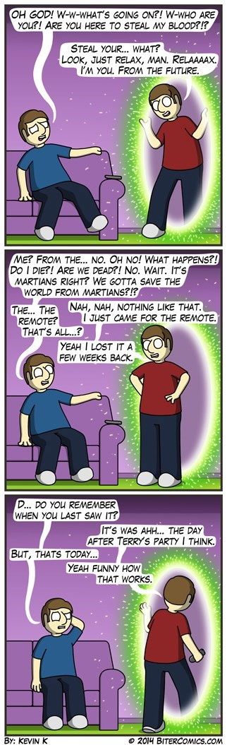 remotes makes sense time travel web comics - 8333509376