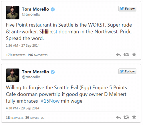 Music twitter Tom Morello celeb rage against the machine burn - 8333782272