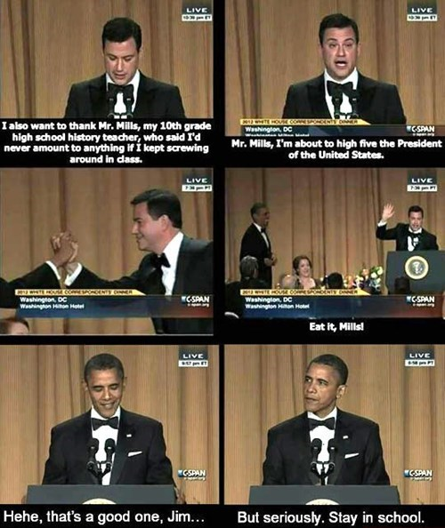 barack obama,jimmy kimmel,funny,stay in school