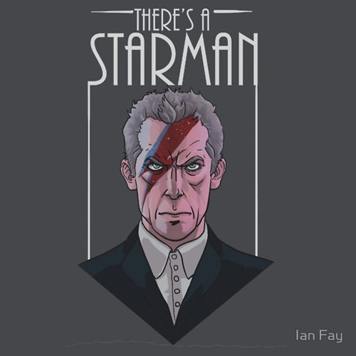 12th Doctor for sale david bowie tshirts star man - 8333951232