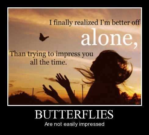 alone,butterfly,depressing,funny