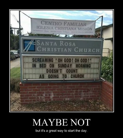 church sexy times funny sign - 8334058496