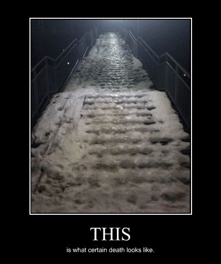 ice,doom,funny,stairs,scary