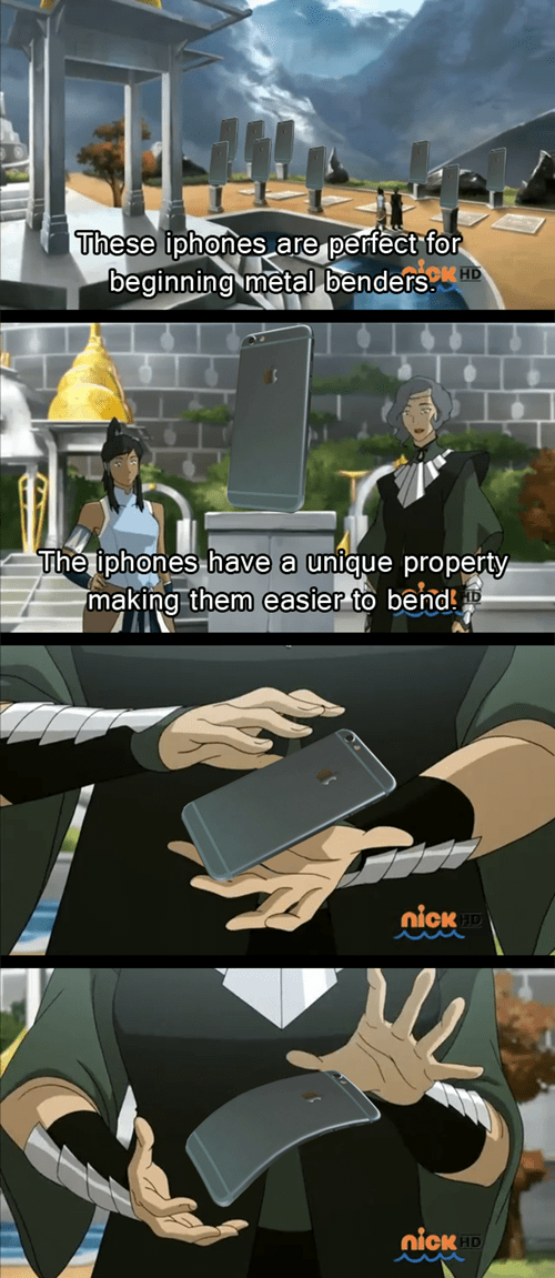Avatar bending iphone korra iphone 6 bendgate - 8334117376
