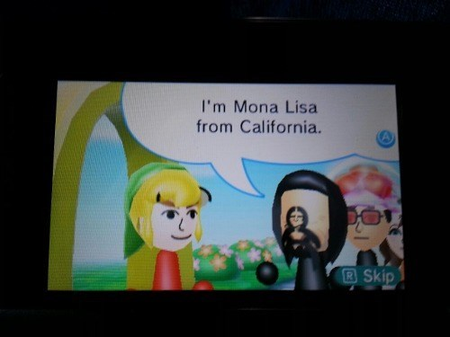 mona lisa art mii mii plaza 3DS